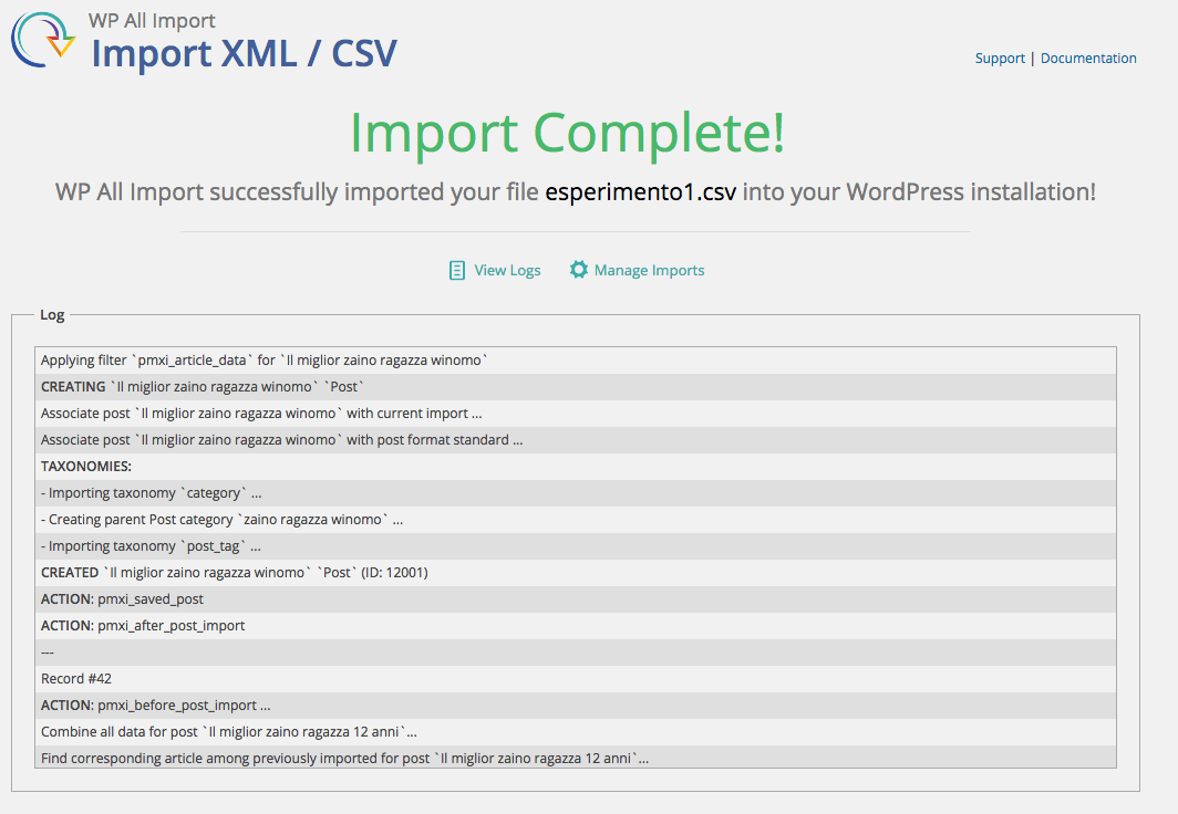 import-complete