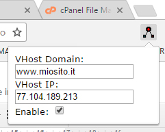 modificare virtual host da browser