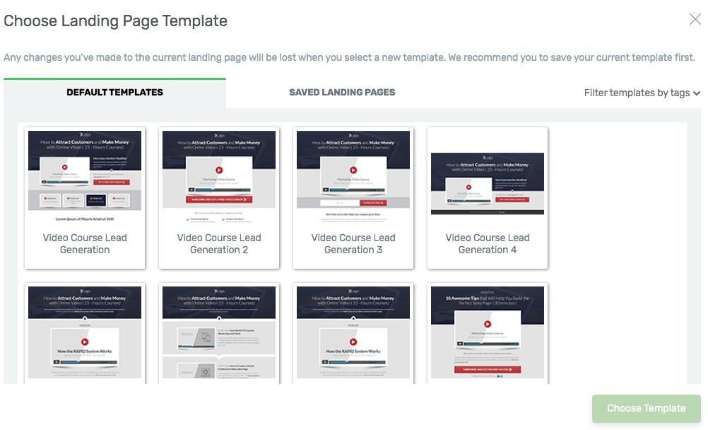 landing page per lancio prodotti con video